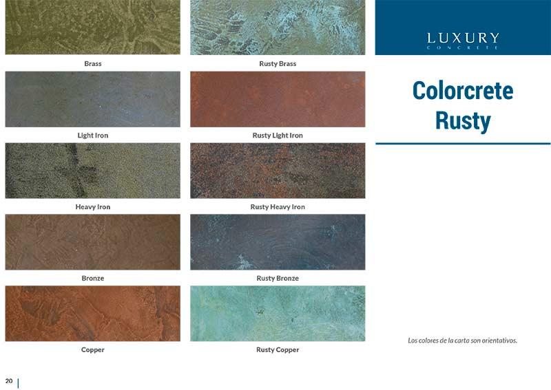 colores microcemento Colorcrete-rusty