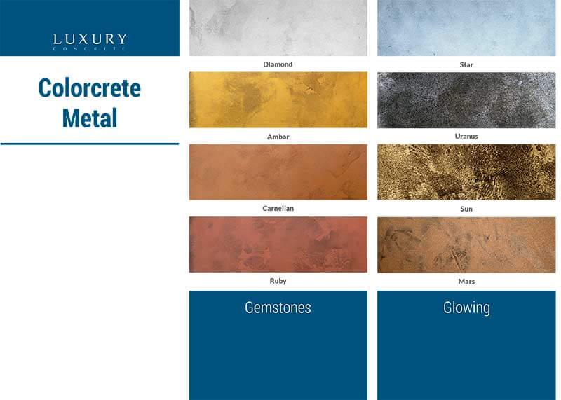 Colores microcemento - colorcrete-metal