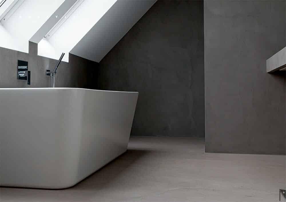microcemento baños interiores y exteriores